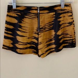H&M animal print silky shorts with back zip